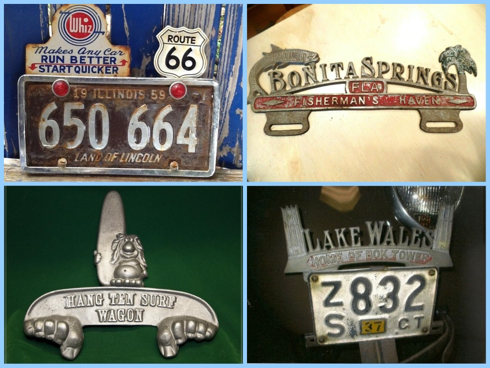 License plate vintage toppers - 8