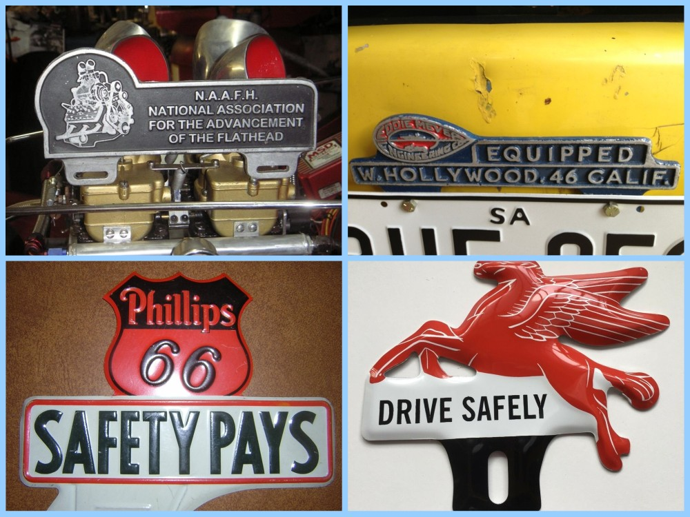 License plate vintage toppers - 9