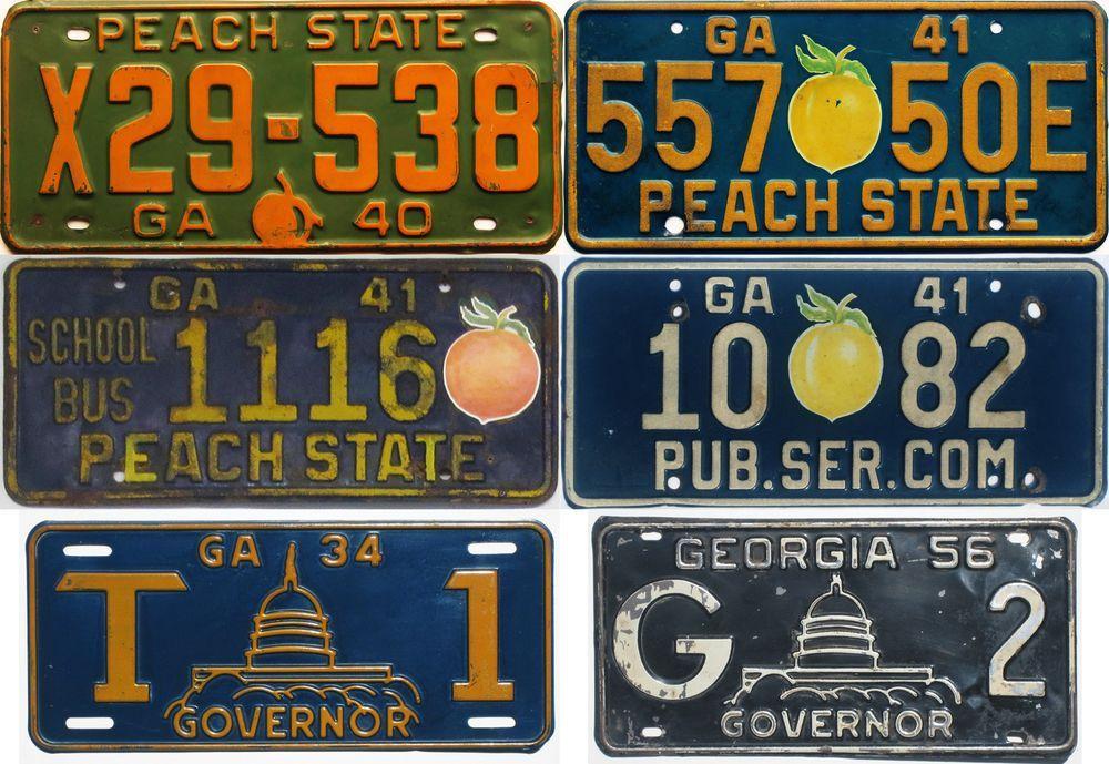 Старые графические номера Джорджии