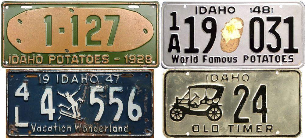 Ретро таблички штата Айдахо