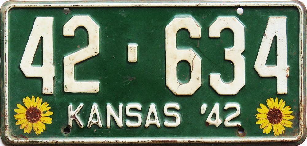 Популярный номер Канзаса с подсолнухами