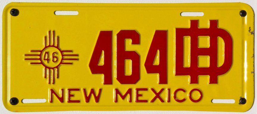 Графика на винтажных пластинах Нью-Мексико