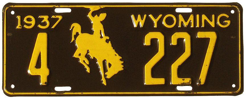 Символ ковбоя на лошади в Вайоминге